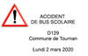 RD129 - Accident de bus scolaire