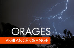 Vigilance orange pour orages