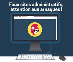 Affiche faux sites administratifs